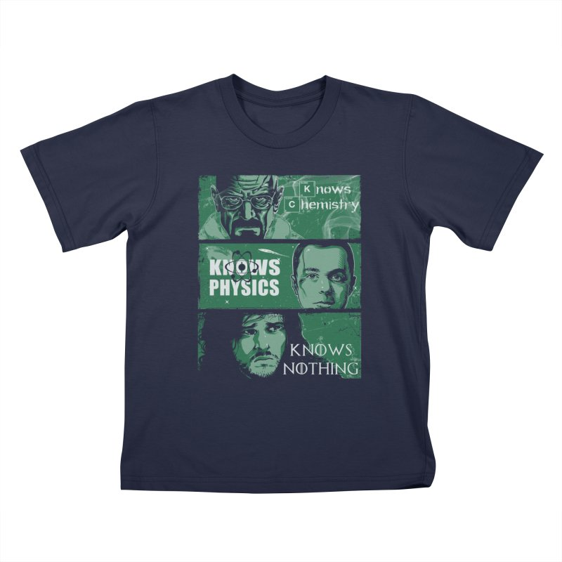 Knowledge Rules Kids T-shirt by Ricomambo