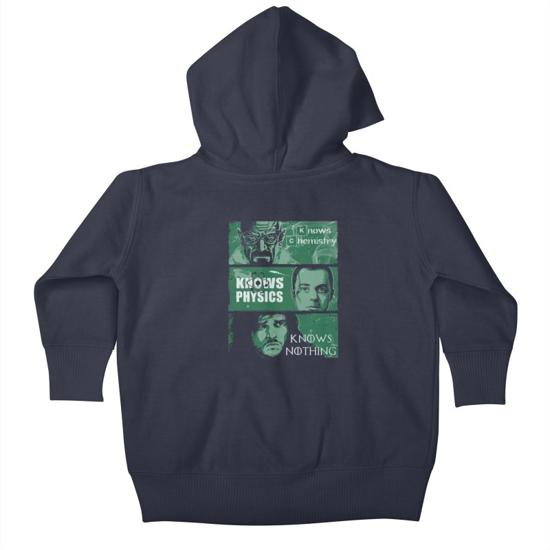 Knowledge Rules Kids Baby Zip-Up Hoody by Ricomambo