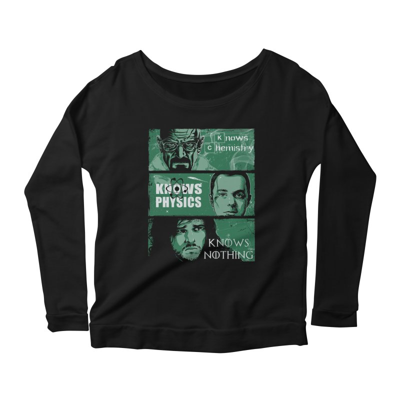 Knowledge Rules Women's Longsleeve Scoopneck  by Ricomambo
