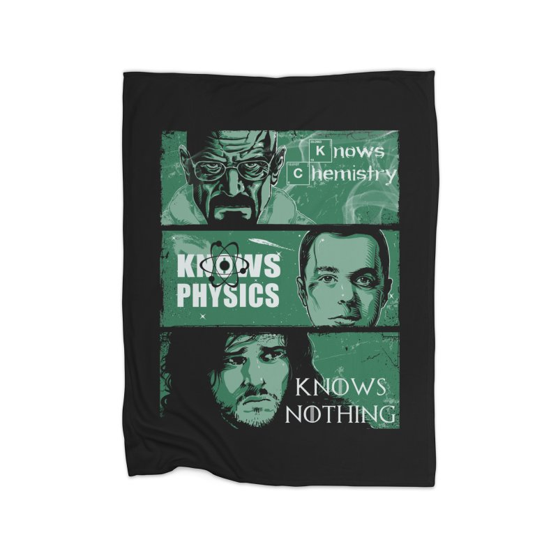 Knowledge Rules Home Fleece Blanket by Ricomambo