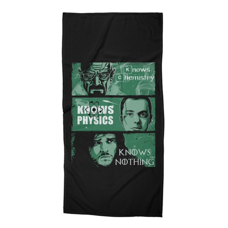 Knowledge Rules Accessories Beach Towel by Ricomambo