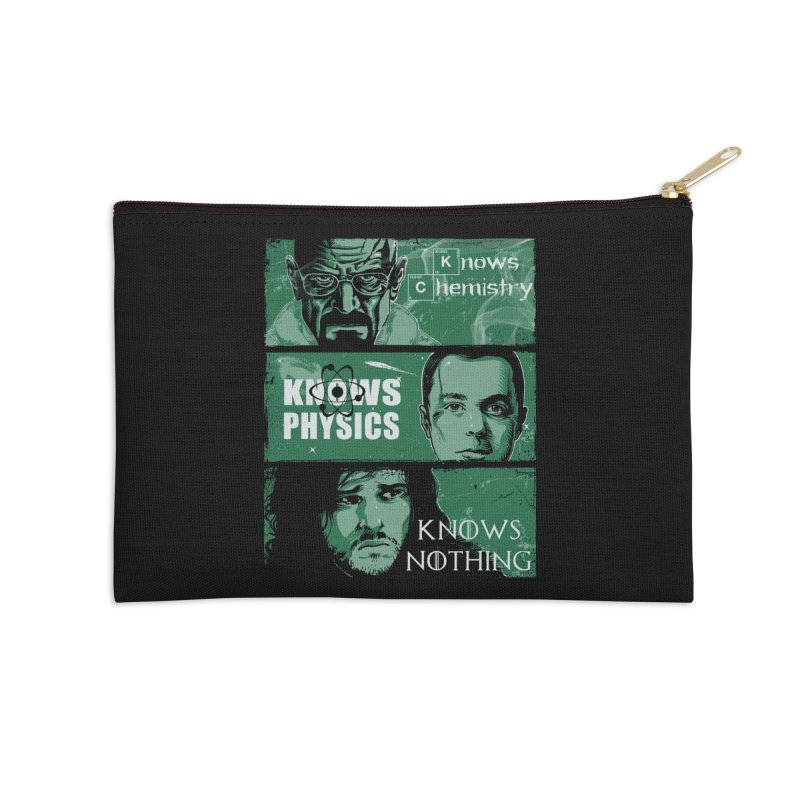 Knowledge Rules Accessories Zip Pouch by Ricomambo