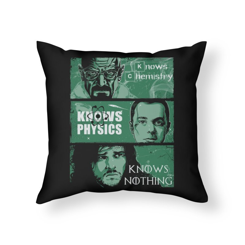 Knowledge Rules Home Throw Pillow by Ricomambo