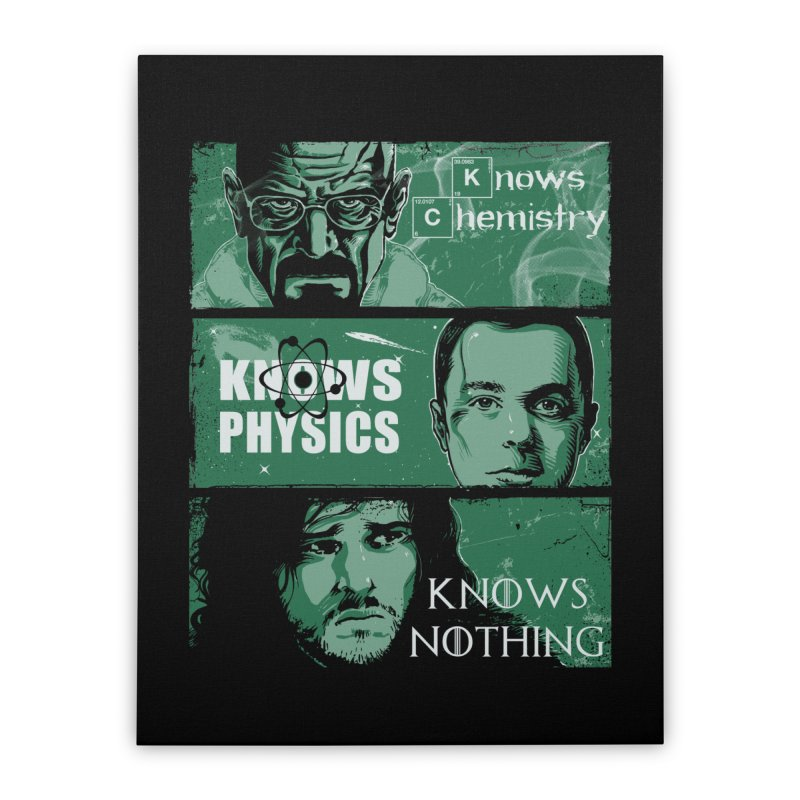 Knowledge Rules Home Stretched Canvas by Ricomambo