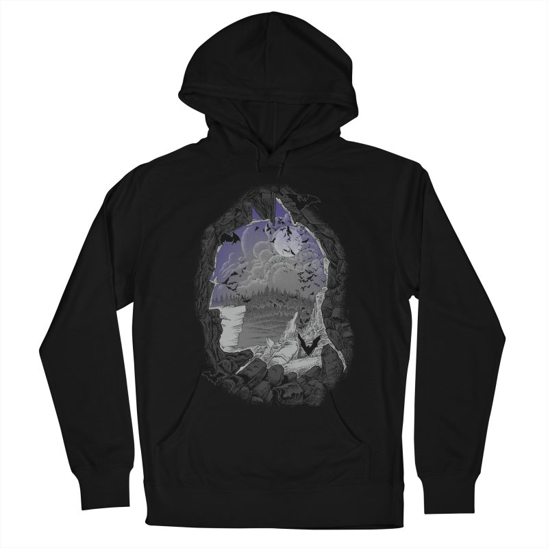 Bat Cave Men's Pullover Hoody by Ricomambo