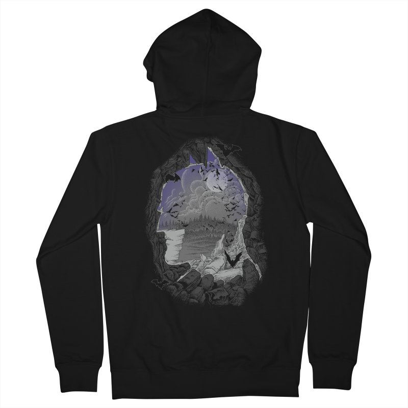 Bat Cave Men's Zip-Up Hoody by Ricomambo