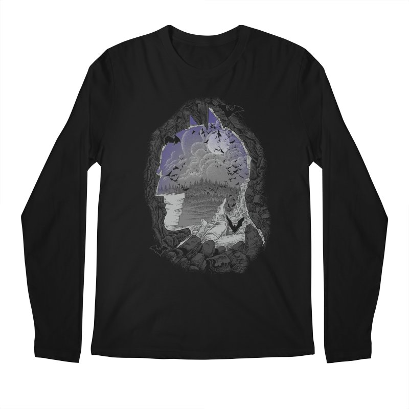 Bat Cave Men's Longsleeve T-Shirt by Ricomambo