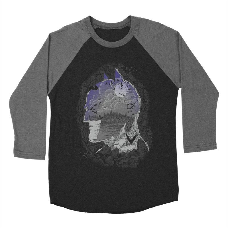 Bat Cave Women's Baseball Triblend T-Shirt by Ricomambo