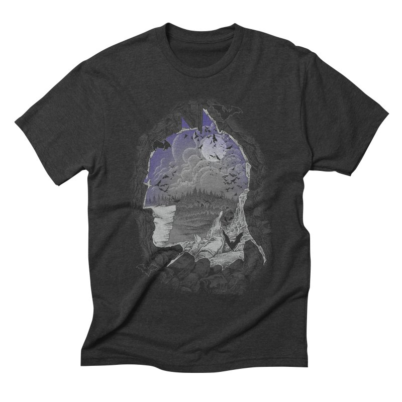 Bat Cave Men's Triblend T-shirt by Ricomambo