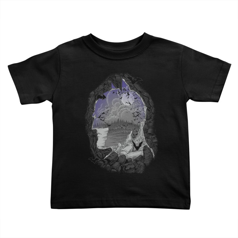 Bat Cave Kids Toddler T-Shirt by Ricomambo