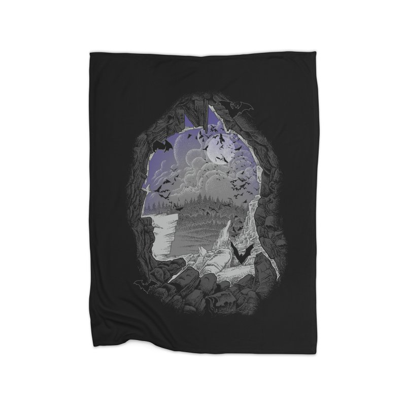 Bat Cave Home Fleece Blanket by Ricomambo