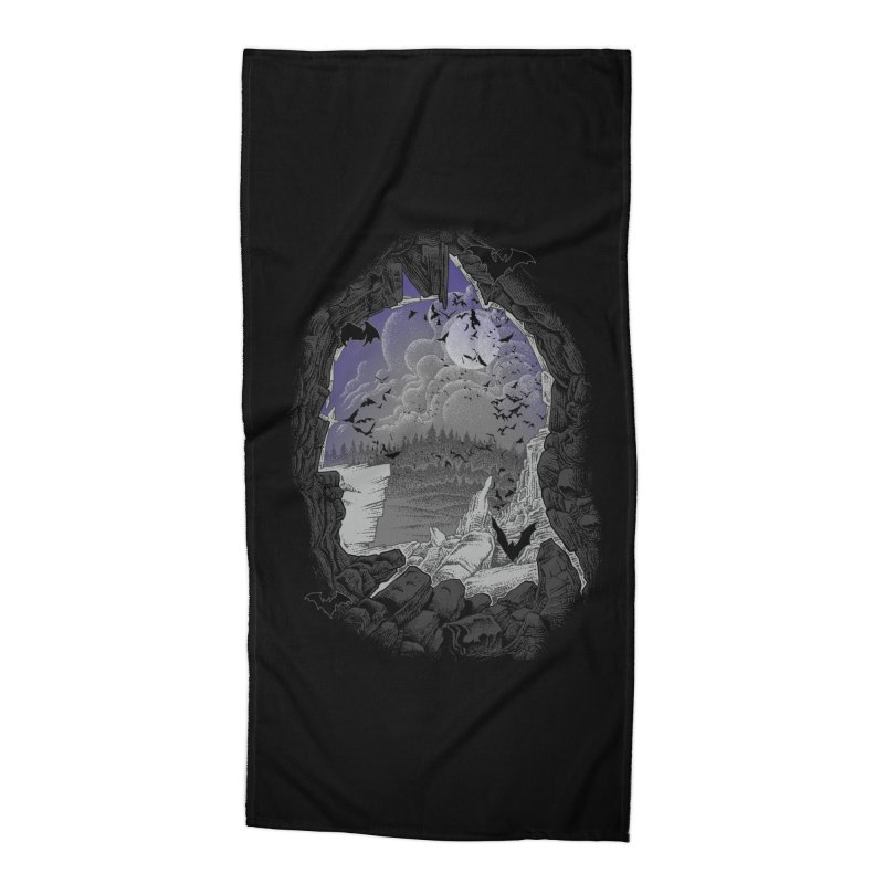 Bat Cave Accessories Beach Towel by Ricomambo