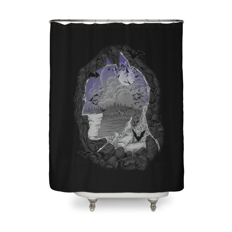 Bat Cave Home Shower Curtain by Ricomambo