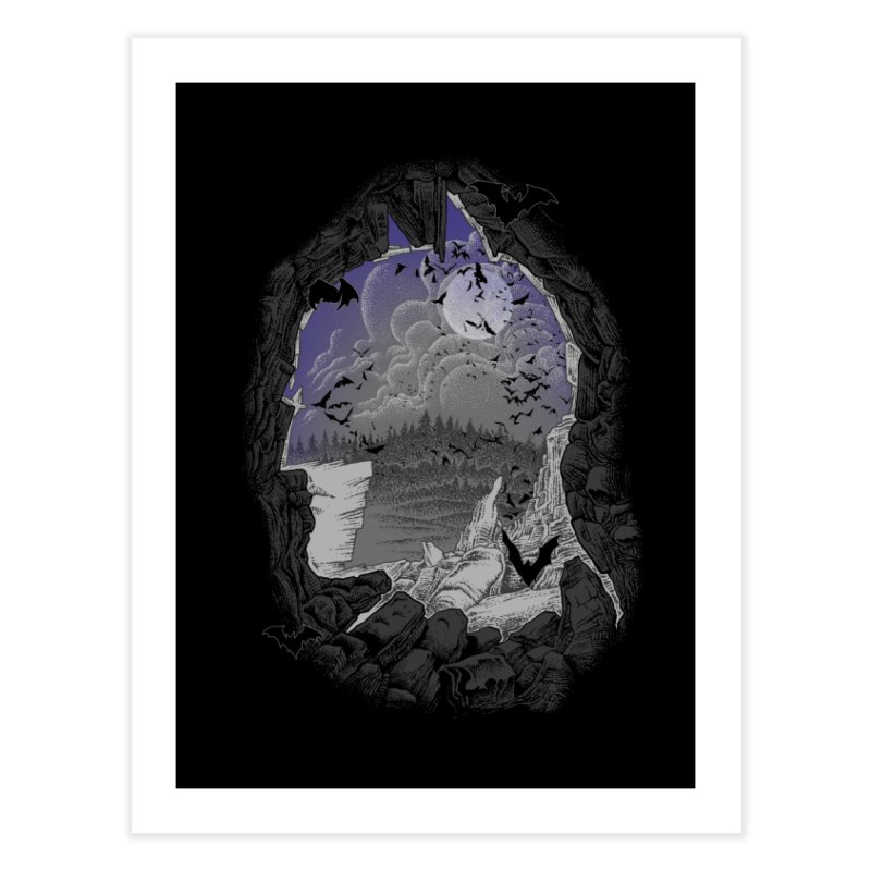 Bat Cave Home Fine Art Print by Ricomambo