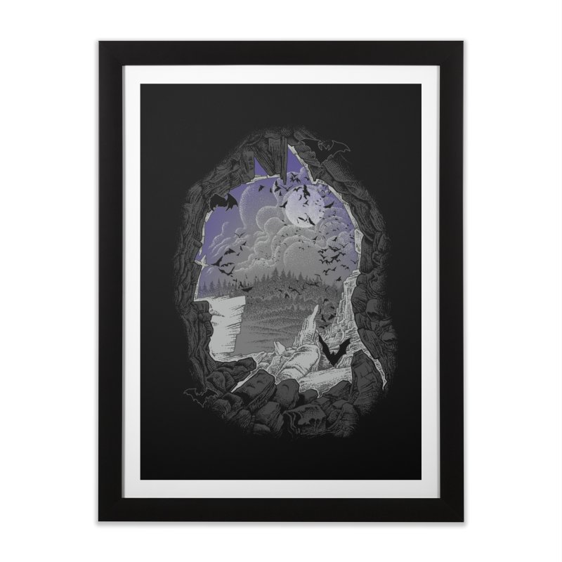 Bat Cave Home Framed Fine Art Print by Ricomambo