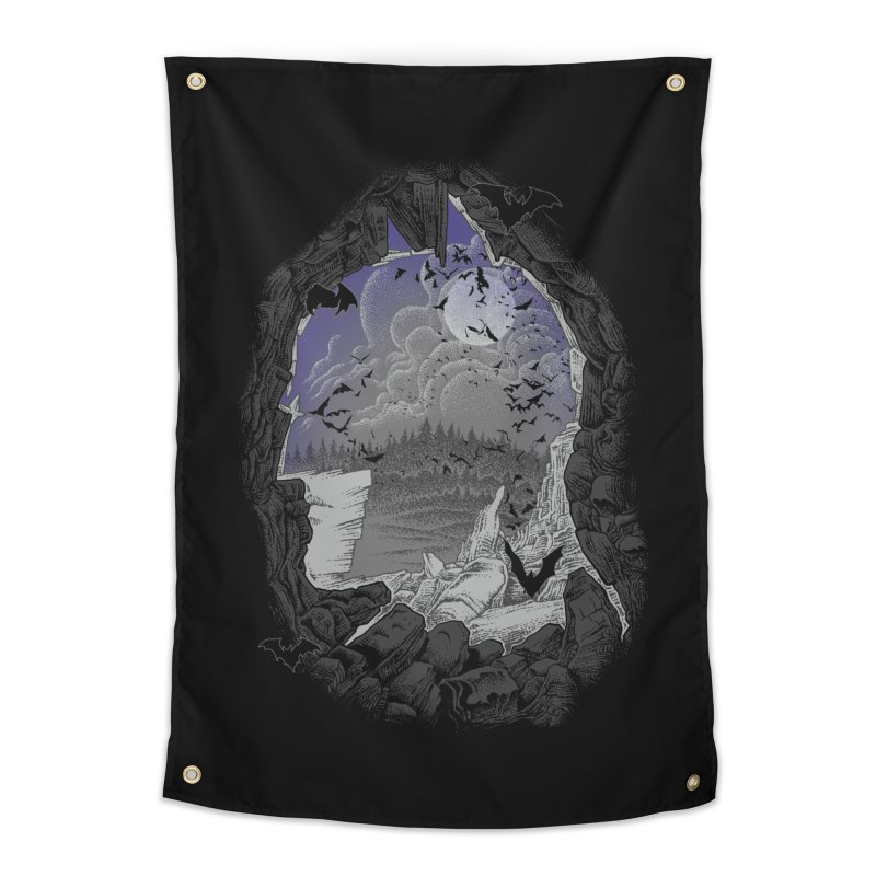Bat Cave Home Tapestry by Ricomambo