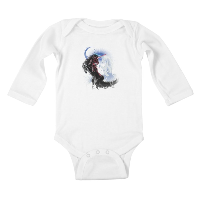 Unicorn Wars Kids Baby Longsleeve Bodysuit by Ricomambo