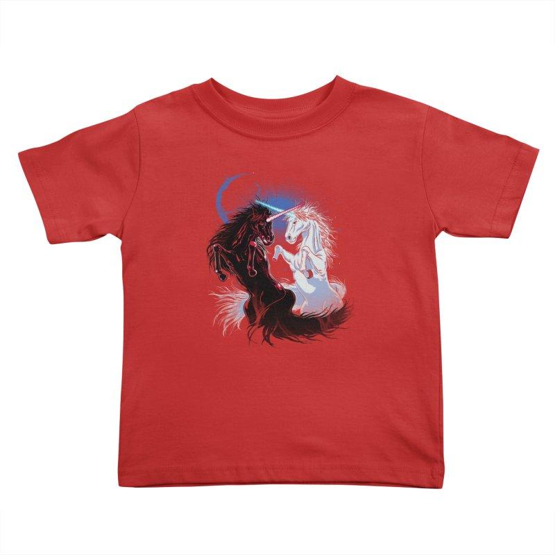 Unicorn Wars Kids Toddler T-Shirt by Ricomambo