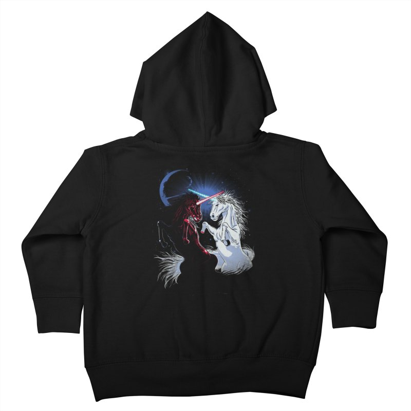 Unicorn Wars Kids Toddler Zip-Up Hoody by Ricomambo