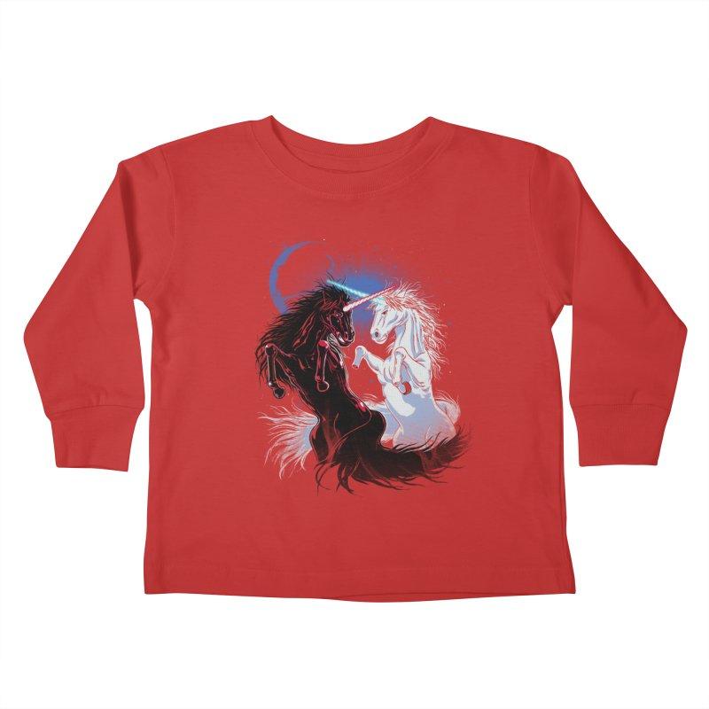 Unicorn Wars Kids Toddler Longsleeve T-Shirt by Ricomambo