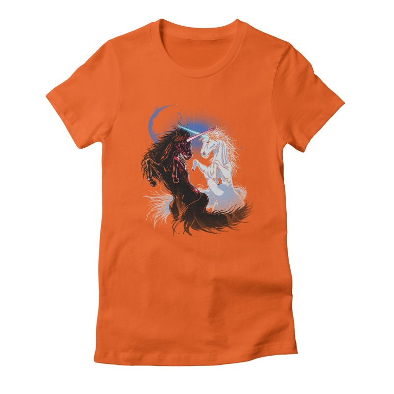 Unicorn Wars Women's Fitted T-Shirt by Ricomambo