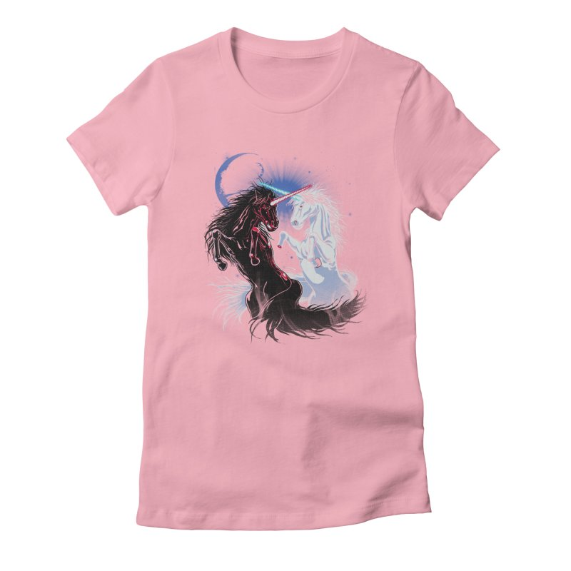 Unicorn Wars Women's Fitted T-Shirt by Ricomambo