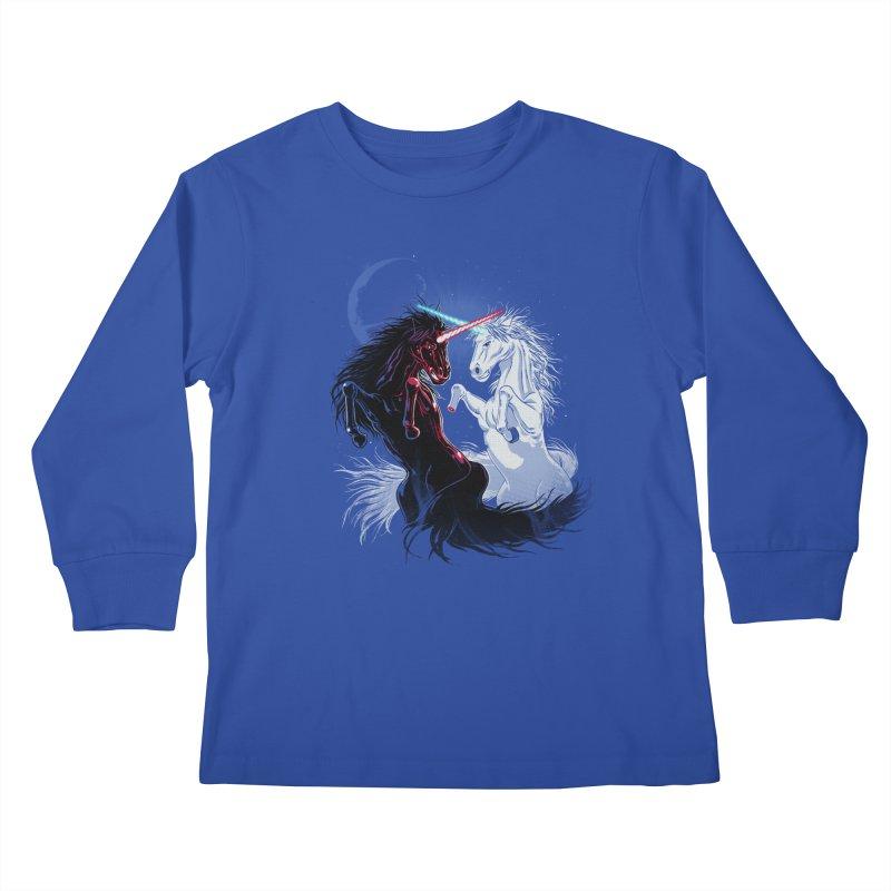 Unicorn Wars Kids Longsleeve T-Shirt by Ricomambo