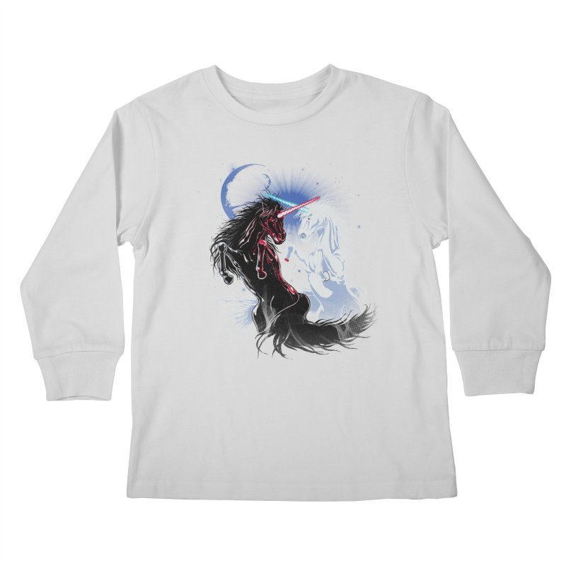Unicorn Wars Kids Longsleeve T-Shirt by Ricomambo