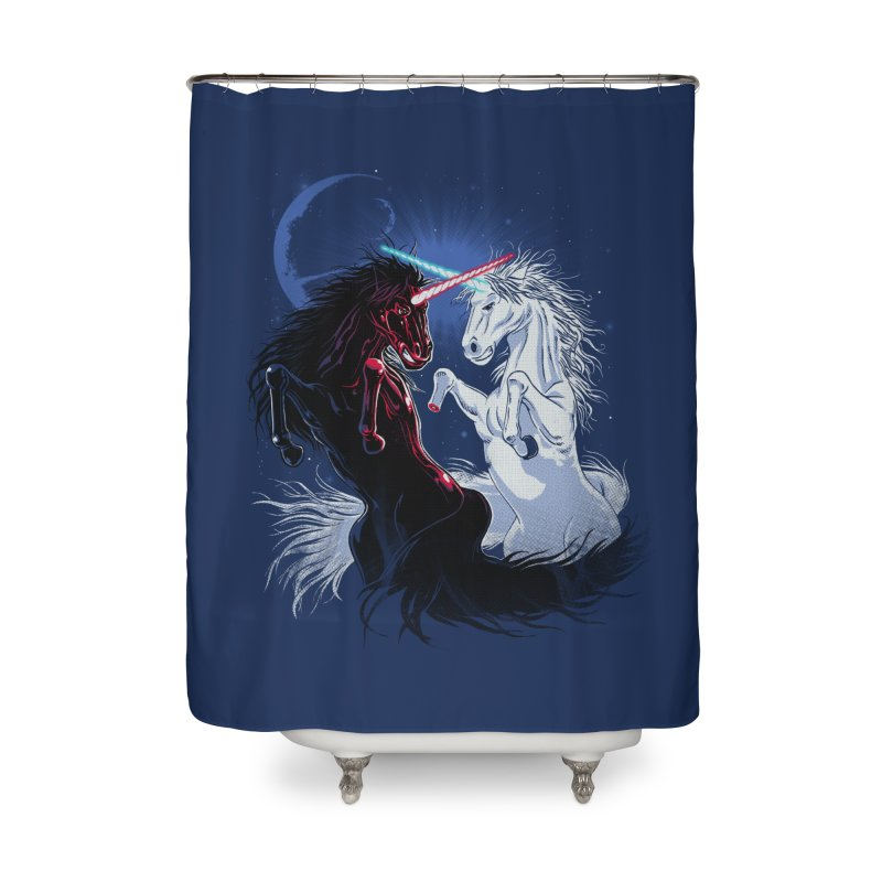 Unicorn Wars Home Shower Curtain by Ricomambo