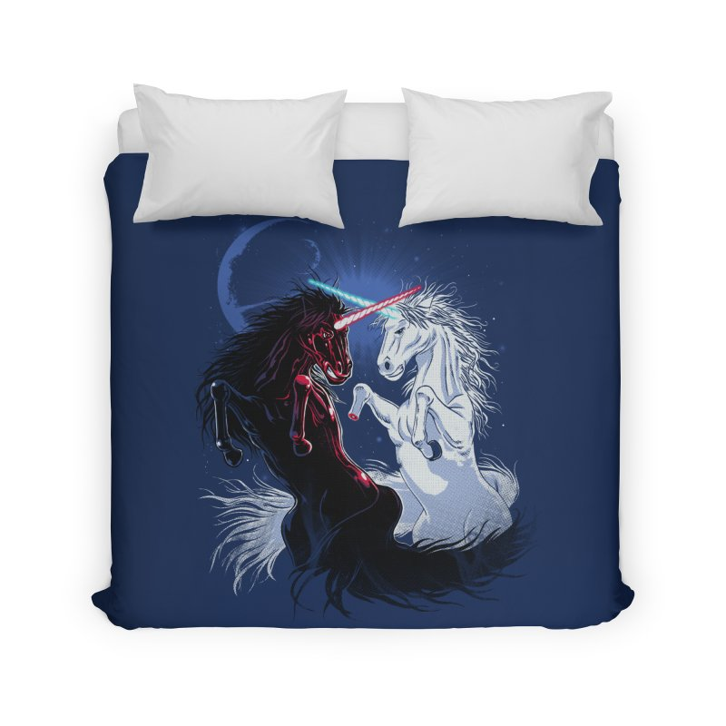 Unicorn Wars Home Duvet by Ricomambo