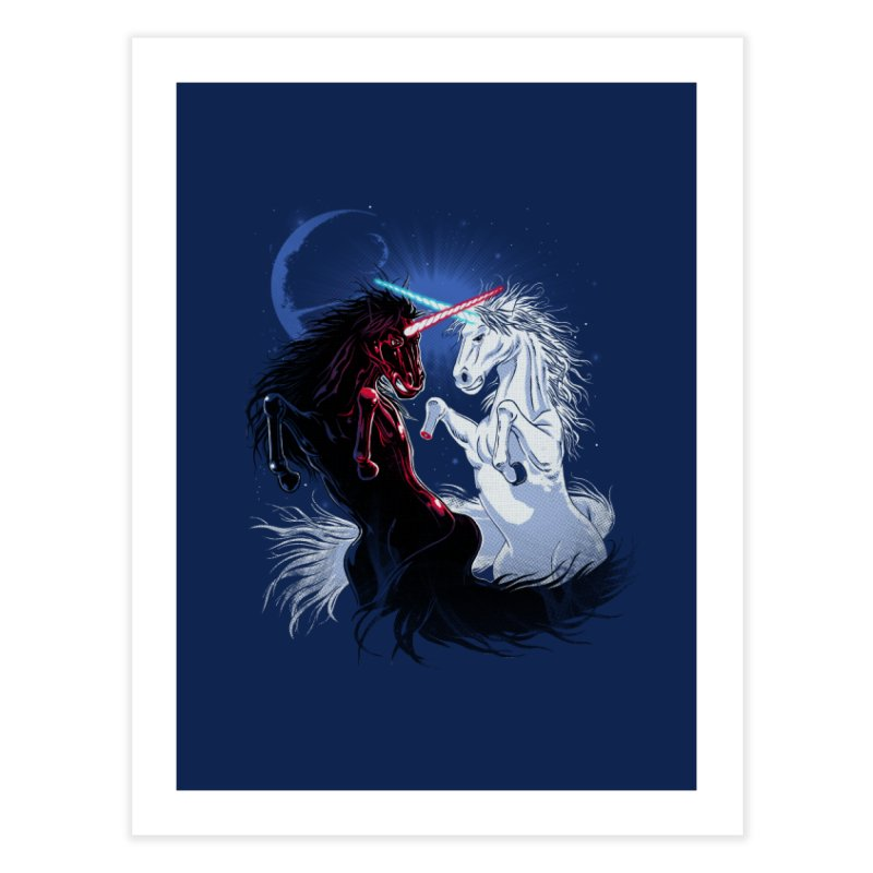 Unicorn Wars Home Fine Art Print by Ricomambo