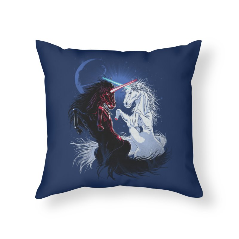 Unicorn Wars Home Throw Pillow by Ricomambo