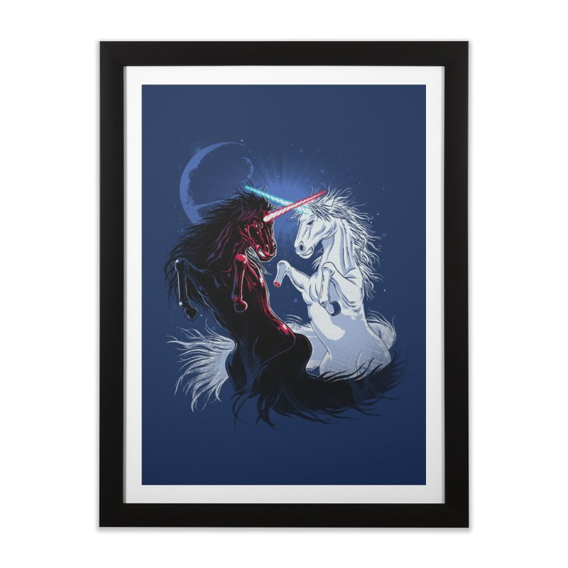 Unicorn Wars Home Framed Fine Art Print by Ricomambo