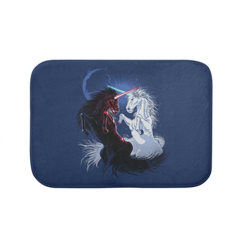 Unicorn Wars Home Bath Mat by Ricomambo