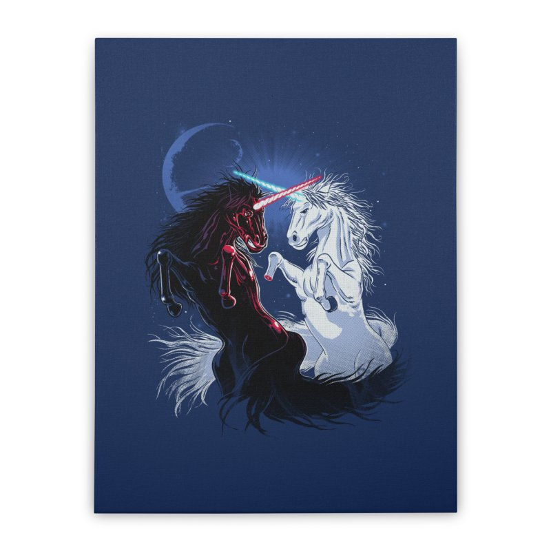 Unicorn Wars Home Stretched Canvas by Ricomambo