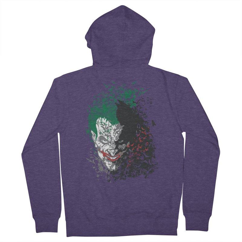 Arkham Bats Men's Zip-Up Hoody by Ricomambo