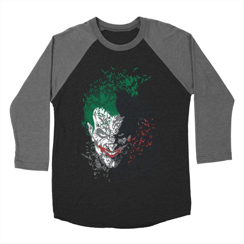 Arkham Bats Women's Baseball Triblend T-Shirt by Ricomambo