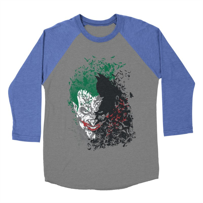 Arkham Bats Men's Baseball Triblend T-Shirt by Ricomambo