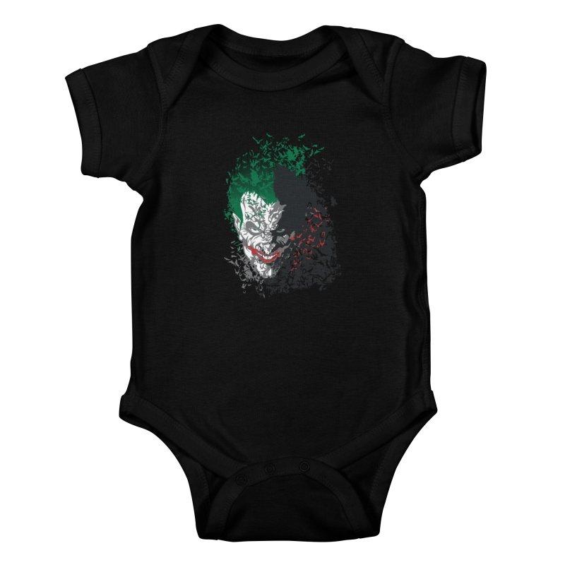 Arkham Bats Kids Baby Bodysuit by Ricomambo