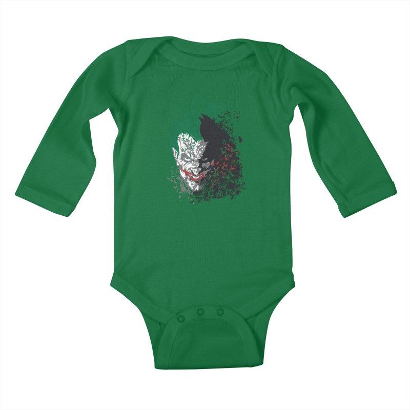 Arkham Bats Kids Baby Longsleeve Bodysuit by Ricomambo
