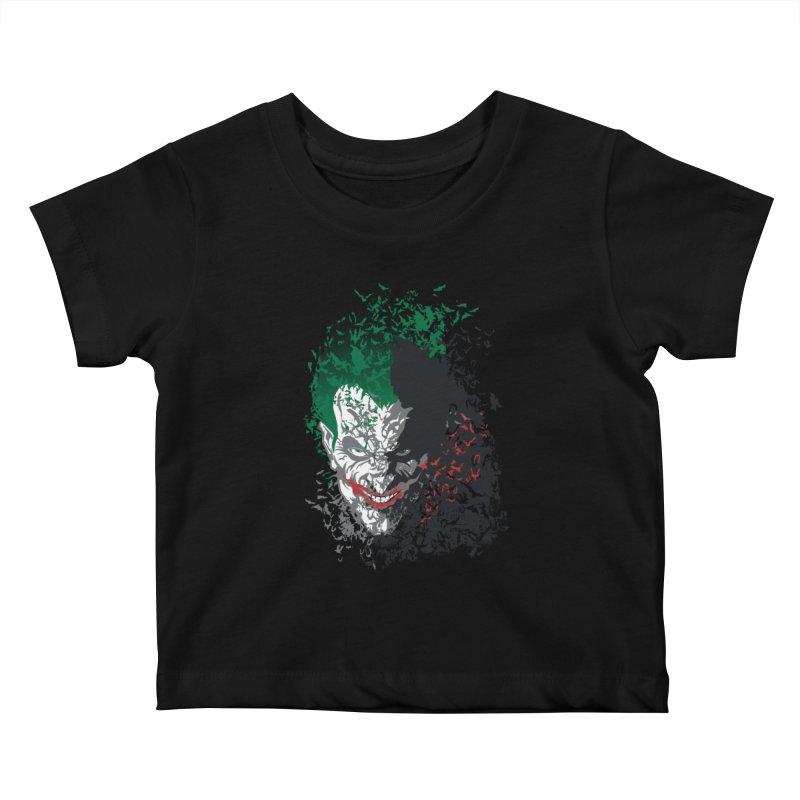 Arkham Bats Kids Baby T-Shirt by Ricomambo