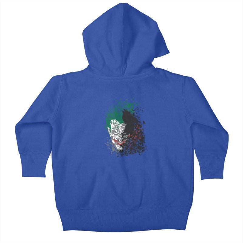 Arkham Bats Kids Baby Zip-Up Hoody by Ricomambo