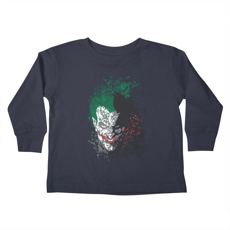 Arkham Bats Kids Toddler Longsleeve T-Shirt by Ricomambo