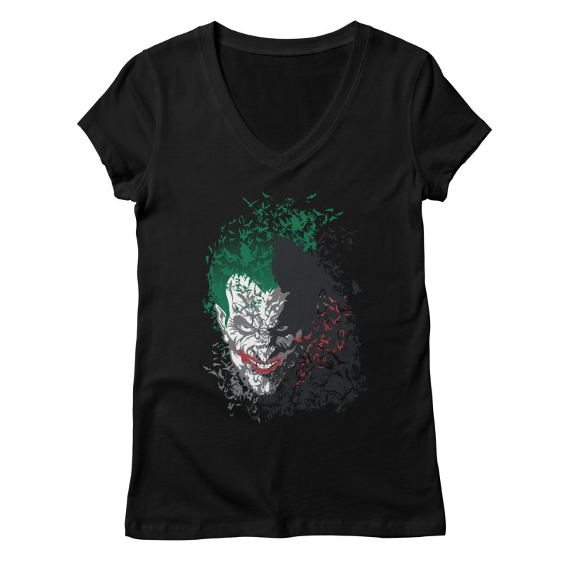 Arkham Bats Women's V-Neck by Ricomambo