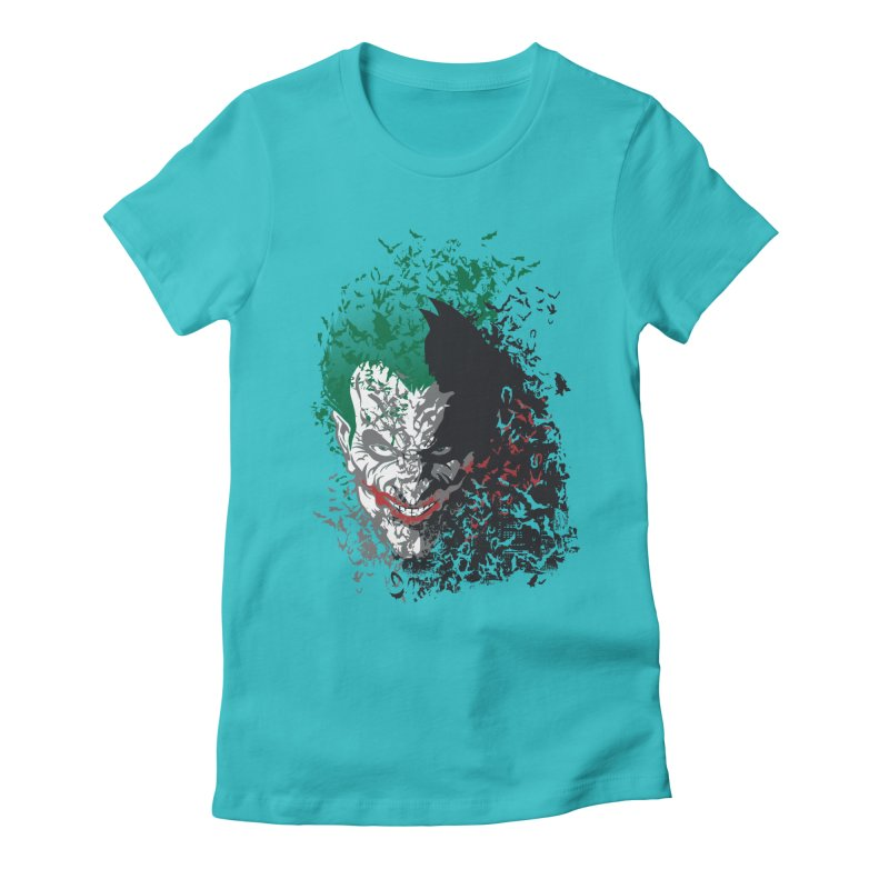 Arkham Bats Women's Fitted T-Shirt by Ricomambo