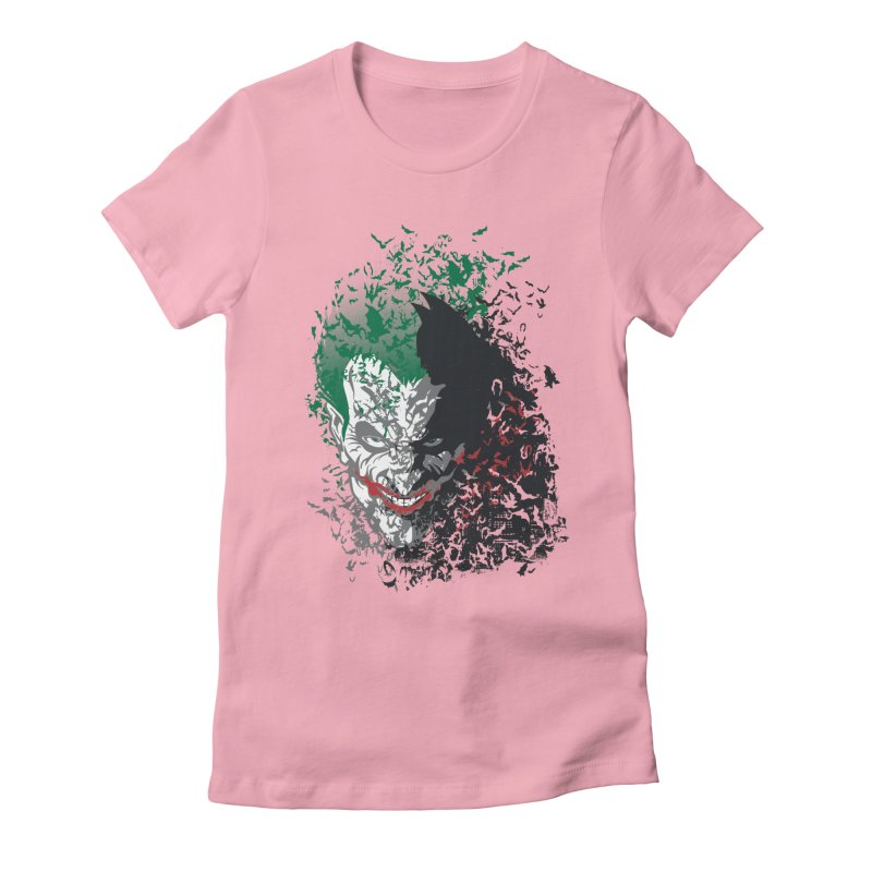 Arkham Bats Women's Fitted T-Shirt by Ricomambo