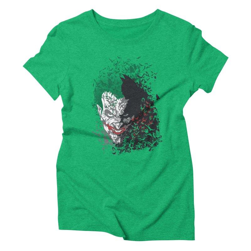 Arkham Bats Women's Triblend T-Shirt by Ricomambo