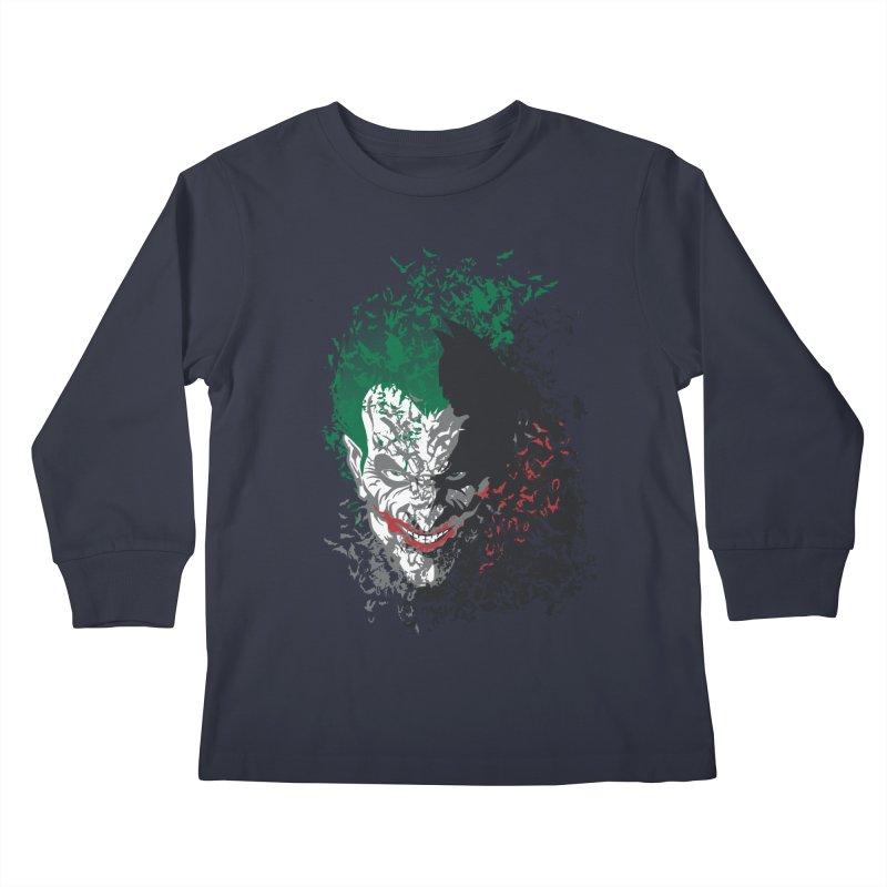 Arkham Bats Kids Longsleeve T-Shirt by Ricomambo