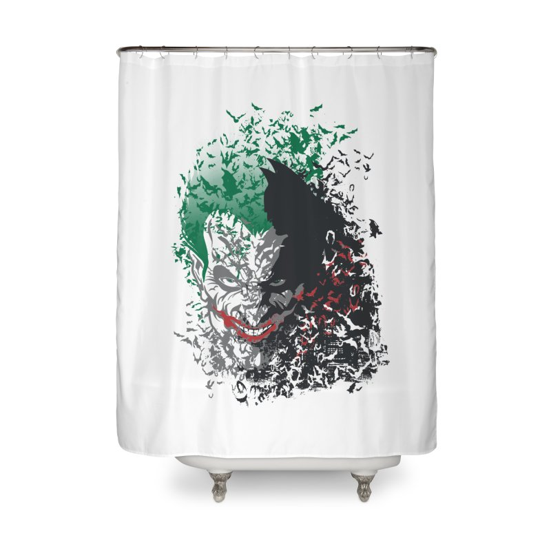 Arkham Bats Home Shower Curtain by Ricomambo