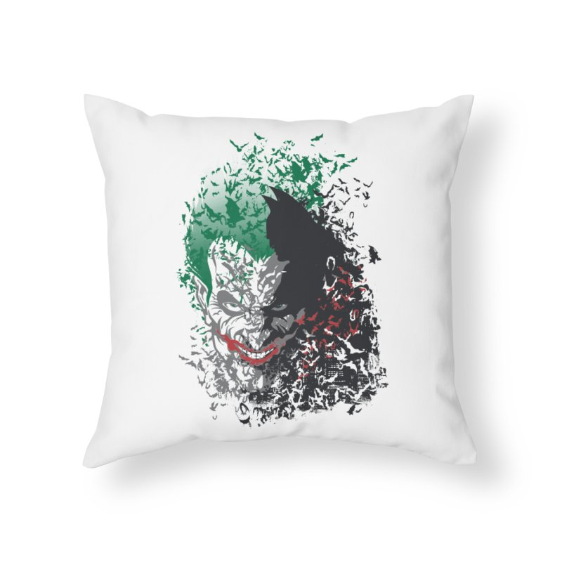 Arkham Bats Home Throw Pillow by Ricomambo